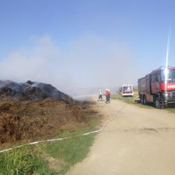 tűzoltók oltják a trgyát