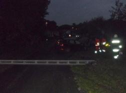 Kaposújlak közlekedési baleset villanyoszlop az úton